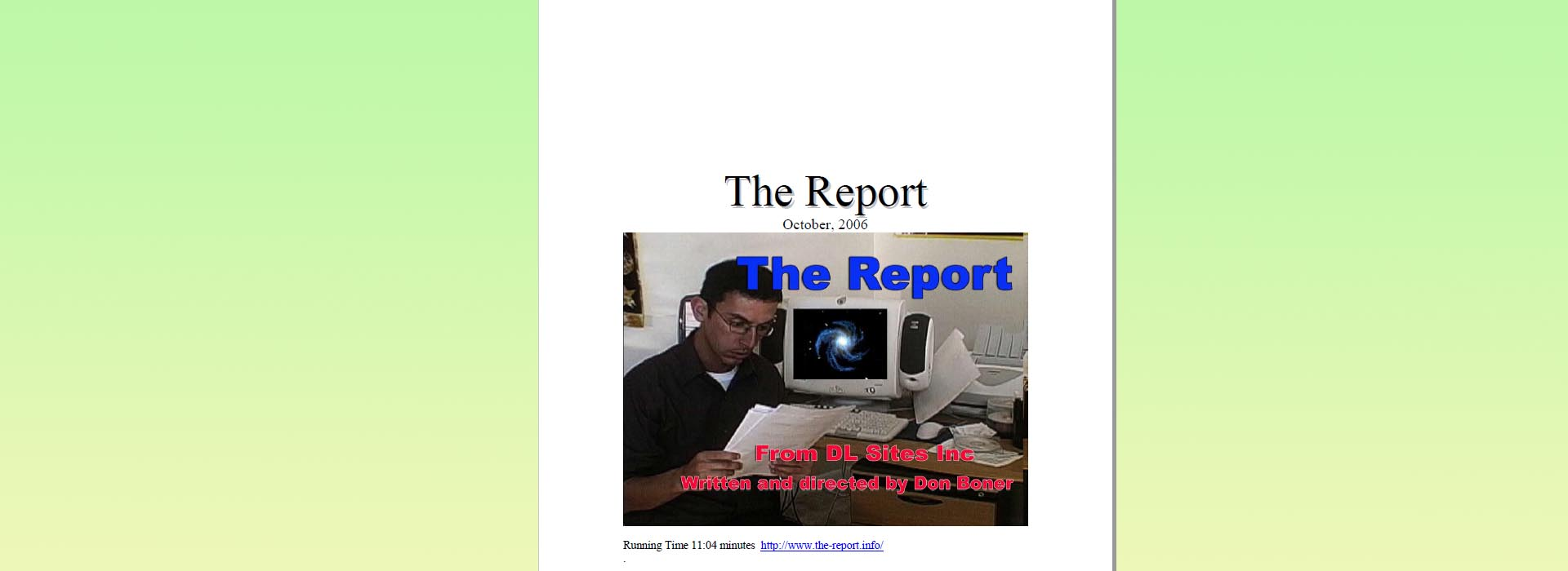 The Report Presskit